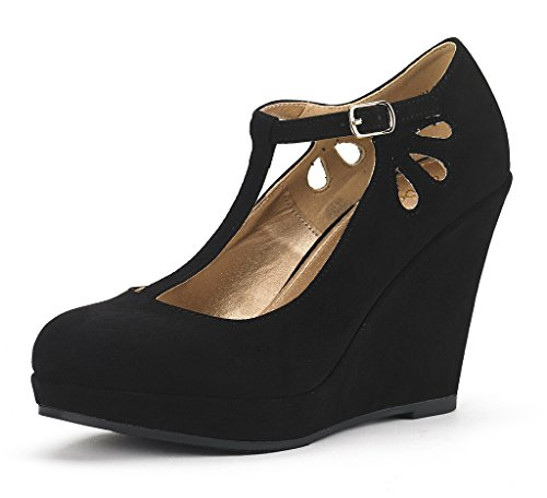 DREAM PAIRS ASH Women's Elegant Wedge Heel Platform Pumps Shoes