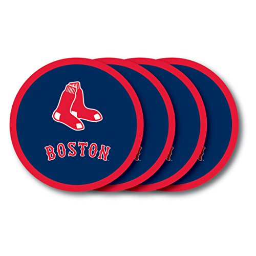 Duck House MLB Boston Red Sox Vinyl Coaster Set (Pack of 4)