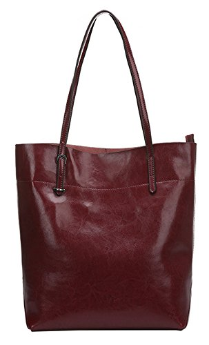 Handbag Womens Leather Genuine Casual Dark Shoulder SAIERLONG wine Red blue Bag d8wTUqX