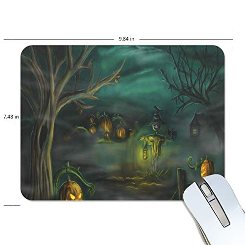 Mouse Pad Halloween Horror Wallpaper Gaming Mousepad Custom Small Thick Mouse Mat Black Fabulous Mouse Pads