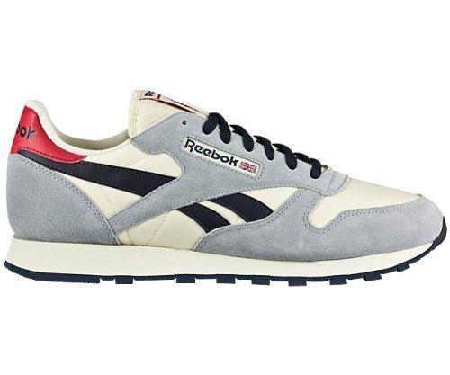 huge discount 267b5 6caef Reebok Classic Leather Vintage, Sneaker Uomo, Grigio (Grau ...