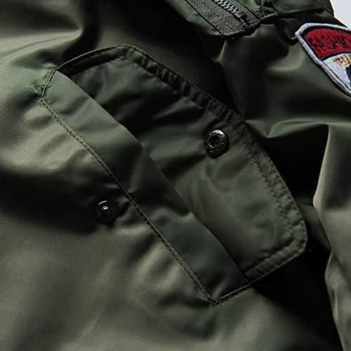 Lunga Bomber spesso 01 Tookang Manica Leggera Flight Giubbotto Sportiva Giacca Verde Uomo BZwwOq8YxH