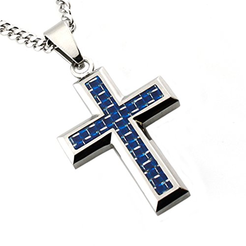 High Polish Cross Necklace - 6
