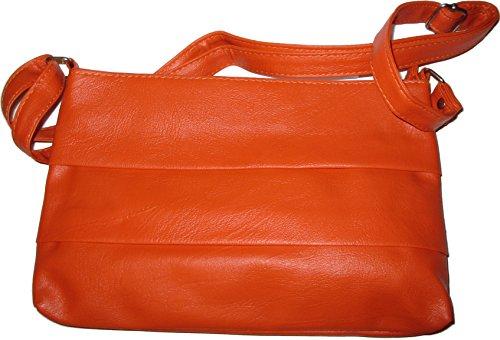 Handtasche Damen Schultertasche Damen Handtasche orange Umhängetasche 08zSqx