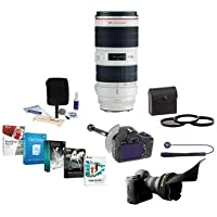 Canon EF 70-200mm f/2.8L IS II USM AF Telephoto Zoom Lens, USA - Bundle with 77mm Filter Kit, Cleaning Kit, Lens Cap Leash, Flex Lens Shade, DSLR Follow Focus & Rack Focus, Pro Software Package