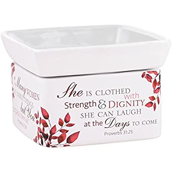 Elanze Designs She is More Precious Than Rubies Proverbs 31 Woman Electric 2 in 1 Jar Candle and Wax and Oil Warmer