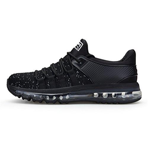 Hommes Chaussure Basses Blanc Sneakers 39 Rouge Noir Gym de Course Noir Baskets et Sport 46 Fitness de Gris Bleu TORISKY Running Cqwd44