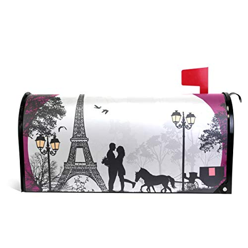 (Fengye Eiffel Valentine's Day Moon Mailbox Magnetic Cover Medium Large Capacity Post Box)