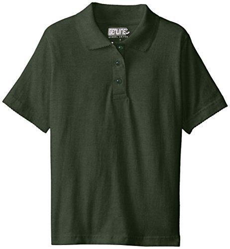 Genuine Big Girls' 2 Pack Polo Shirt, Hunter-PLHH, 16 by Genuine