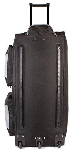 41vco1VzZ%2BL - KS-10034pulgadas Tamaño Grande Negro y Gris con ruedas Bolsa de viaje con asa