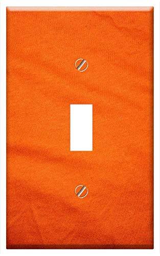 (Switch Plate Single Toggle - Orange Cloth Sheet Fashion Clothing Design Fabric 1)
