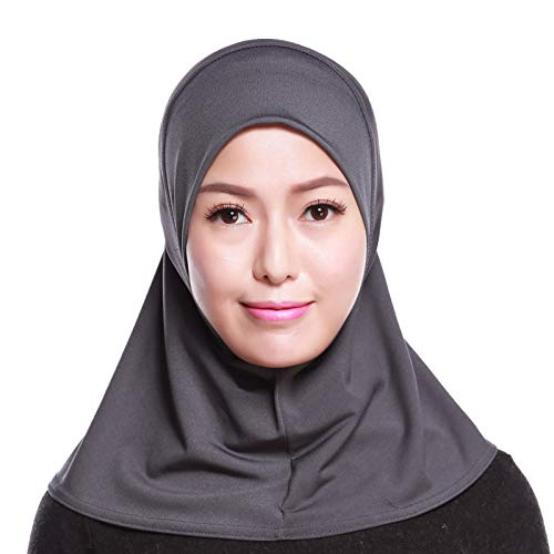 4Pcs Islamic Turban Head Wear Hat Underscarf Hijab Full Cover Muslim Cotton Hijab Cap in 4 Colors (D) by HANYIMIDOO (Image #5)