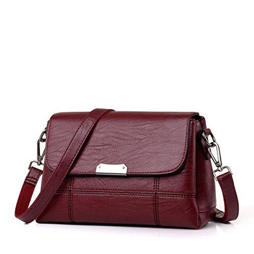 Tote Bag Women Pu Crossbody Messenger Bag Ladies Bag Elegant Leisure Travel Vintage Work Black Red
