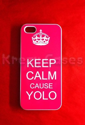 Keep calm cause yolo Iphone 5 Case - For Iphone 5, iPhone 5 cover