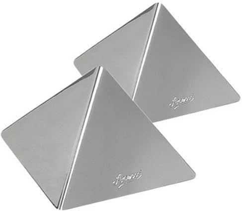 Ateco 4936 Stainless Steel Medium Pyramid Mold, Set of 2, 3.5 by 2.5-Inches High