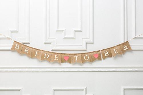 (Rustic Wedding Banner-Bride To Be Burlap Bunting Banner- Photo Prop- Reception Banner- Vintage Wedding- Custom Wedding Banner)