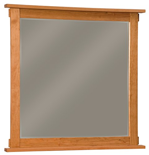 "Amish Heirlooms Solid Maple Bungalow Mirror, 2"" x 41.5"" x 40"