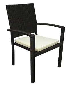 Fuente al aire libre Zen silla de comedor, estándar