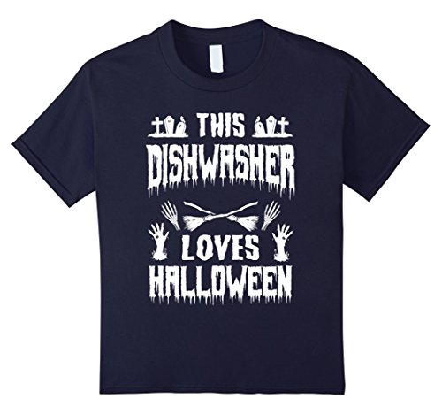 Kids This Dishwasher Loves Halloween Awesome Gift T-Shirt 12 (Restaurant Halloween Costume Ideas)