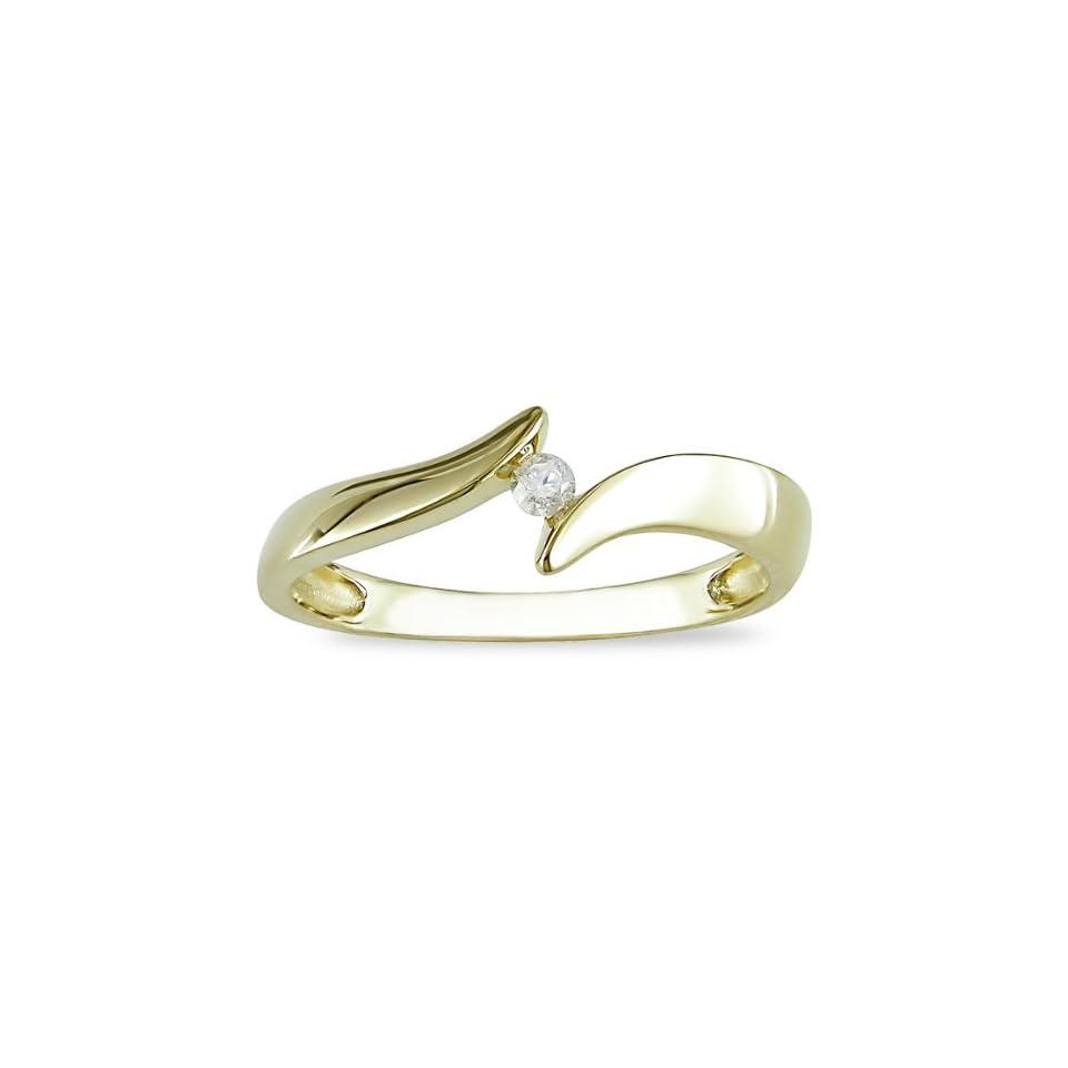 10K Yellow Gold Diamond Ring (I J, I2)