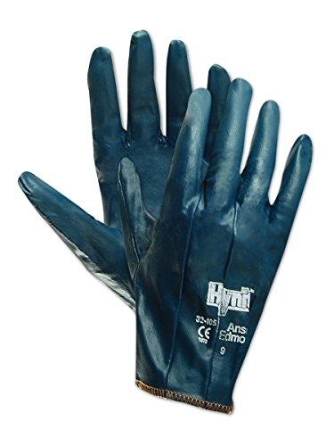 Ansell Hynit 32-105 Fully Coated Nitrile Impregnated Gloves (Work Glove Impregnated)
