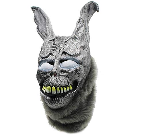 Cinhent Party Modeling Mask Novelty Funny Toy Rabbit Mask Halloween The Bunny Latex Hood with Easter Toys Fur Mask for Kids and Adult -