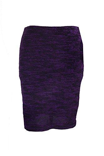 Grace Elements Purple Marled Tweed Pencil Skirt ()