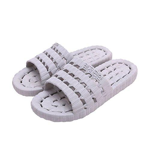 Pantofole Angili Unisex Cava Bagno Antiscivolo Sandali Estivi Bagno Grigio