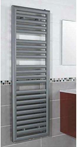 S SIENOC radiateur de Salle de Bain 600 x 1500 mm Anthracite raccordement Central radiateur s/èche-Serviettes