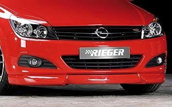Rieger Frontal Alerón Labio Negro Mate para Opel Astra H GTC/Twin Top: Amazon.es: Coche y moto