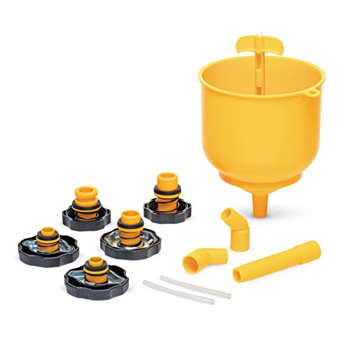 (Eastwood Coolant System Fill Kit Spill Proof 5 Adapter Caps)