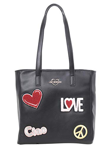 Ecopelle Donna Shopper Nero Bs19mo09 Borsa Moschino Love qxPIz5Z
