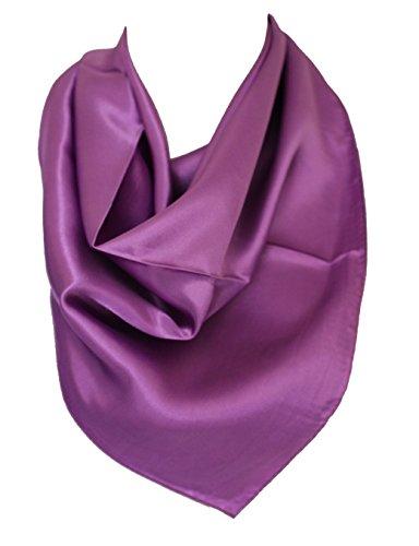 7eaa5b4fcb8 Elegant Plain Colour Silk Satin Scarf Bandana Neck Square Head Wrap (Lilac)