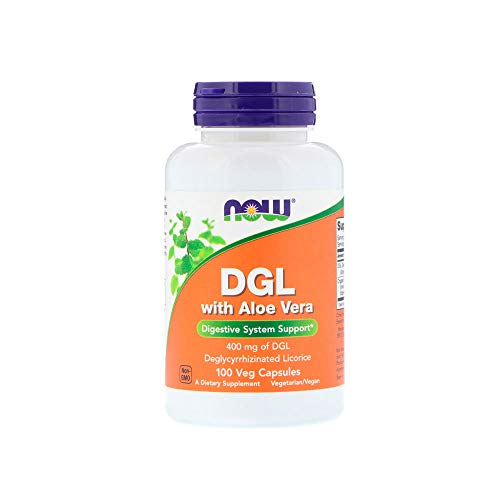 Now Supplements, DGL with Aloe Vera (Deglycyrrhizinated Licorice), 100 Veg Capsules ()