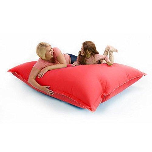 Shopisfy Indoor & Outdoor Water Resistant 4 in 1 Position Floor Cushion Bean Bag Slab - Black 100cm x125cm