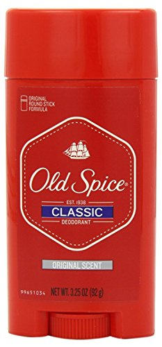Old Spice Classic Deodorant Stick, Original 3.25 oz Pack of 12