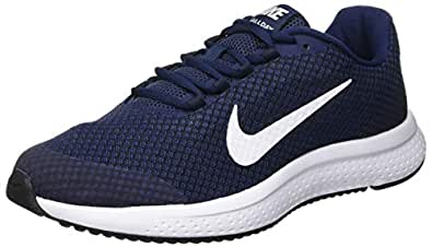 Nike Men's RunAllDay Shoes, Midnight Navy, White-Dark Obsidian-Black, 7 US
