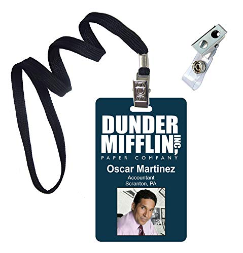 Oscar Martinez, The Office, Novelty ID Badge Film Prop for Costume and Cosplay • Halloween and Party Accessories -