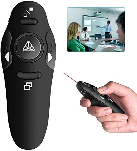 EXPRESS TRADE Wireless Presenter with Laser Pointer 2.4GHz PowerPoint PPT Clicker Presentation Remote Control