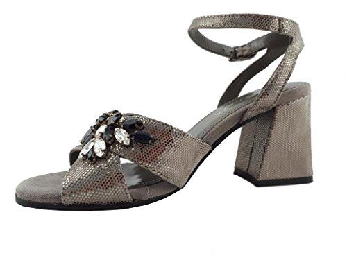 Gris Para Piel Zapatos de EU Apepazza 35 gris Mujer Gris Vestir de 8ZRxpq