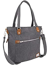 Anti-Theft Heritage Tote Bag, Pewter