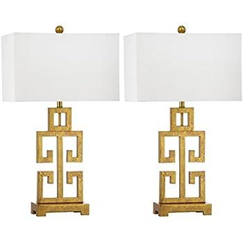 Amazon safavieh lighting collection greek key antique gold safavieh lighting collection greek key antique gold 2875 inch table lamp set of 2 aloadofball Gallery