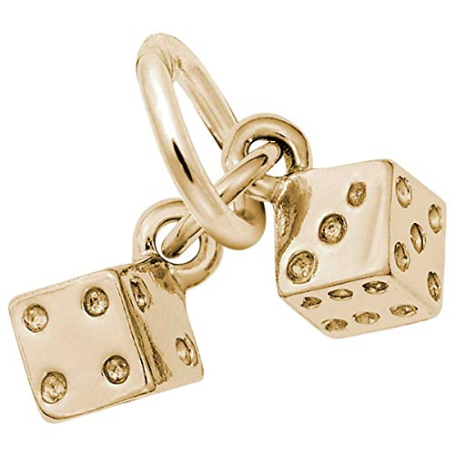 Rembrandt Charms Dice Charm, 14K Yellow Gold