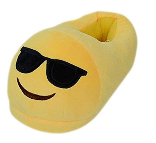 Chaussures Auspicious b Hiver beginning Hommes Pantoufles Coton Unisexe D'intérieur jaune Couple Femmes Emoji Cheville Drôle PUCqPrwx
