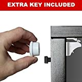 Child Safety Cupboard Locks (4 Locks 2 Keys) Baby Proof Your Cabinets & Drawers With The Safetyeffect Magnetic Adhesive Lock, Install in Minutes, No Drilling Needed