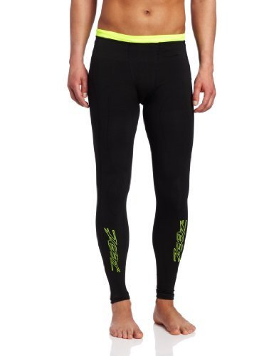 Zoot Sports Men's Ultra 2.0 CRX Tights, Black/Safety Yellow, 3 by Zoot Sports