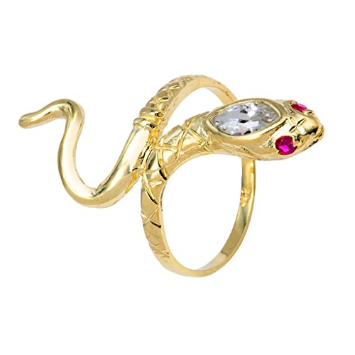 Stunning 10k Yellow Gold Red CZ Eye Snake Band Wrap Ring (Size 8) by Snake Collection by FDJ
