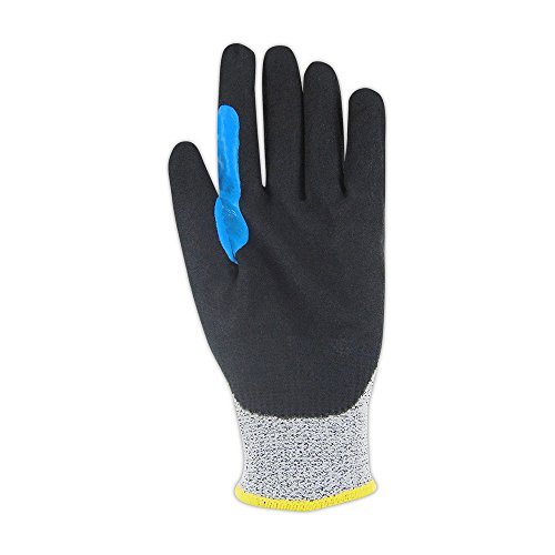 Glove & Safety GPD700RT-8 D-ROC GPD700RT NitriX Palm Coated Work Glove with Reinforced Thumb Saddle - Cut Level A2, 8'', Salt/Pepper (Pack of 12) by Magid Glove & Safety (Image #2)