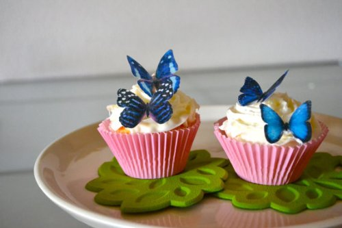 Edible Butterflies © - Small Assorted Blue Set of 24 - Cake and Cupcake Toppers, Decoration