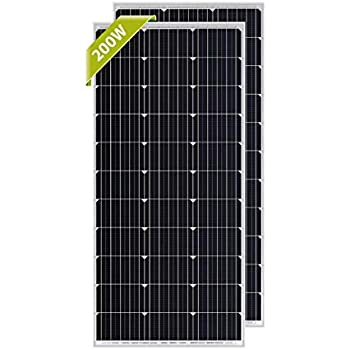 Newpowa 100 Watt Monocrystalline 100W 12V Solar Panel High Efficiency Mono Module RV Marine Boat Off Grid ... (2 pcs)